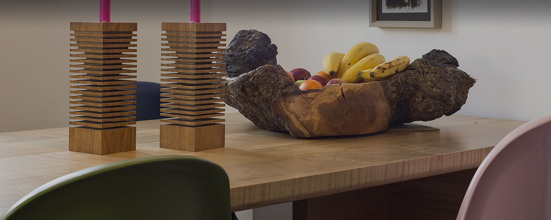Bespoke Dining Room Table with Fruit Bowl, Brighton & Hove